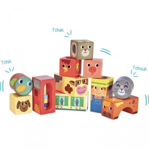 Vilac - 2102 - Cubes sonores de la Ferme (353700)