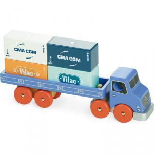 Vilac - 2358 - VILACITY / Camion porte-conteneurs - à partir de 3+ (353708)