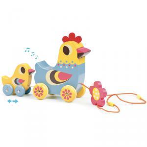 Vilac - 7738 - La poule et le poussin jouet musical à traîner Ingela P. Arrhenius (353844)