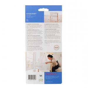 Babybjorn - 047021 - Drap-housse pour Berceau Blanc, Organic (354162)