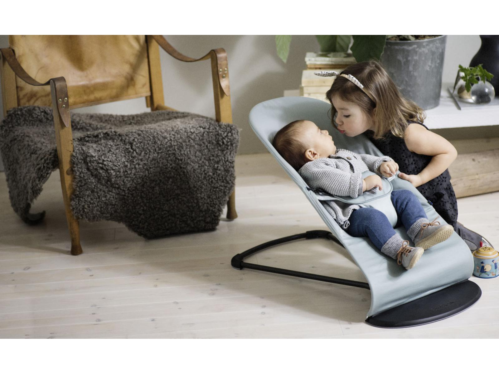 babybjorn transat balance soft babybj rn noir gris fonc. Black Bedroom Furniture Sets. Home Design Ideas