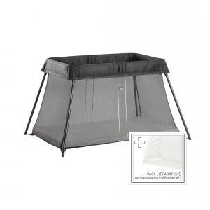 Babybjorn - 640001 - Lit Parapluie Noir + Drap-housse (354256)