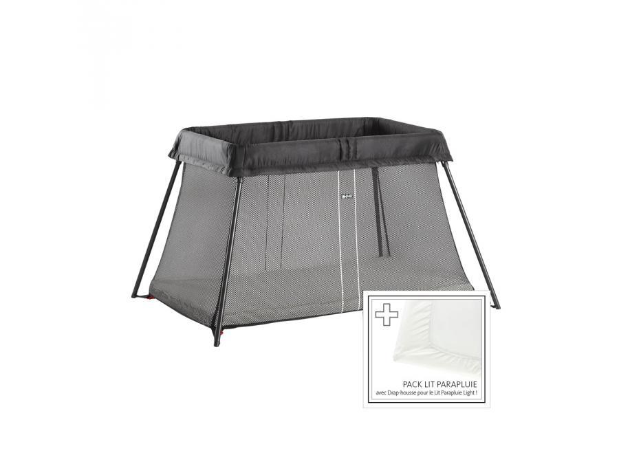 Babybjorn lit parapluie babybj rn noir drap housse for Housse lit parapluie