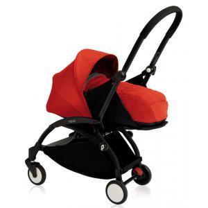 Babyzen - BU076 - Nouvelle poussette Babyzen Yoyo plus cadre noir pack naissance rouge (354702)