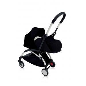 Babyzen - BU069 - Nouvelle poussette Babyzen Yoyo plus cadre blanc pack naissance noir (354716)