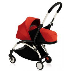 Babyzen - BU068 - Nouvelle poussette Babyzen Yoyo plus cadre blanc pack naissance rouge (354718)