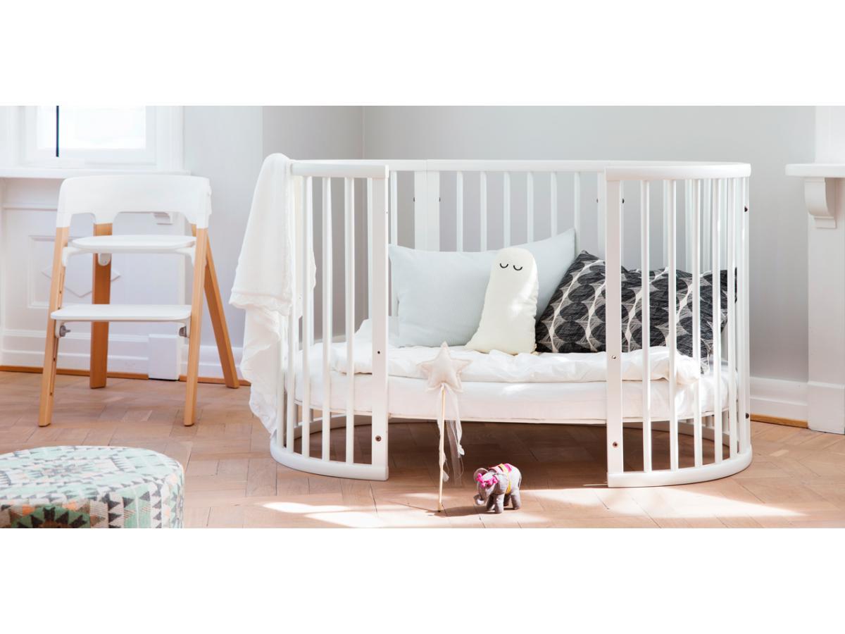 lit sleepi evolutif 4 10 ans blanc. Black Bedroom Furniture Sets. Home Design Ideas