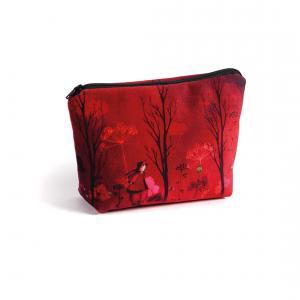 Atelier de Noémi - TRO-MAQ-NOM-ROU - Trousse à maquillage Nomade Rouge 20 x 25 cm (354938)