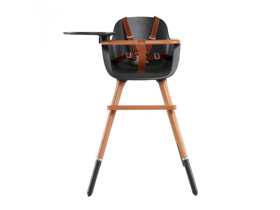 micuna chaise haute plateau et harnais inclus couleur marron. Black Bedroom Furniture Sets. Home Design Ideas