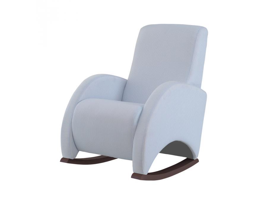 micuna fauteuil bascule en textile couleur chocolat rayures bleu. Black Bedroom Furniture Sets. Home Design Ideas