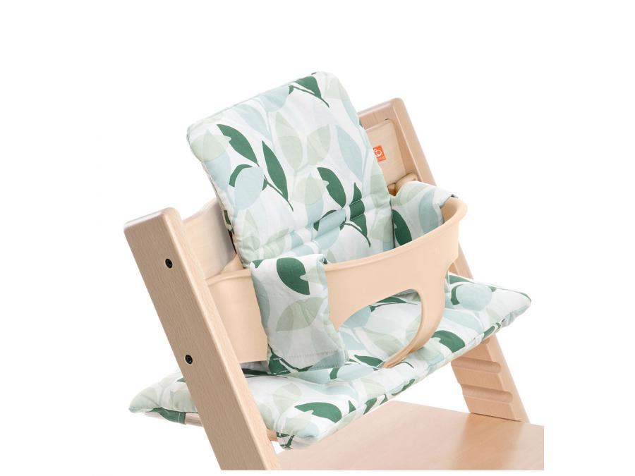 Stokke coussin vert for t enduit pour chaise tripp trapp - Accessoire chaise tripp trapp ...