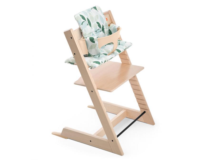Stokke coussin vert for t pour chaise haute tripp trapp for Chaise haute tripp trapp grise