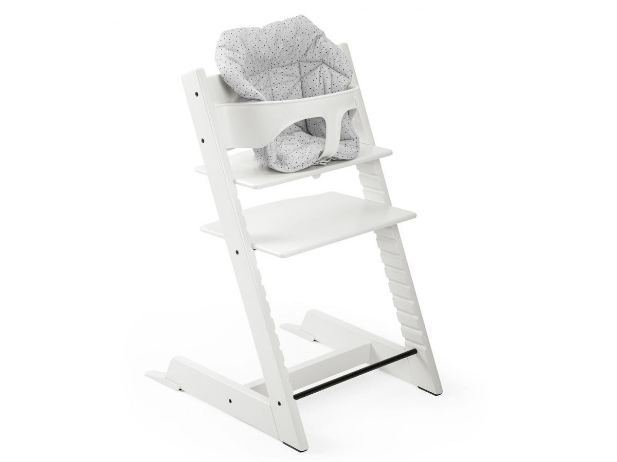 stokke coussin mini pois couleur nuage pour chaise tripp trapp. Black Bedroom Furniture Sets. Home Design Ideas