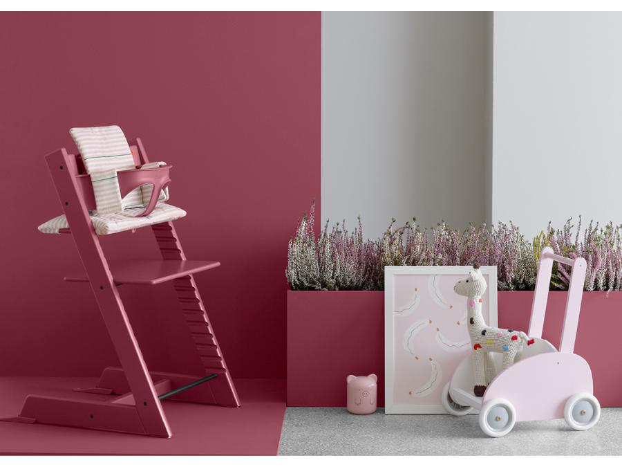 Stokke chaise haute tripp trapp rose bruy re for Haute bruyere