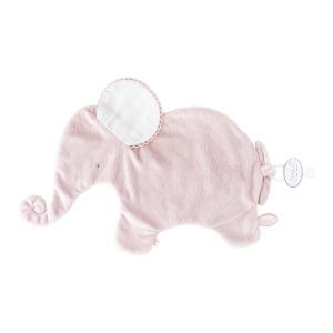 Dimpel - 884000 - Oscar doudou éléphant classique 42 cm - rose et blanc (356906)