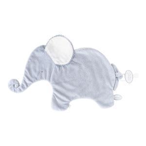 Dimpel - 884026 - Oscar Doudou éléphant attache tétine  - 42 x 25 cm - BLEU-blanc (356910)