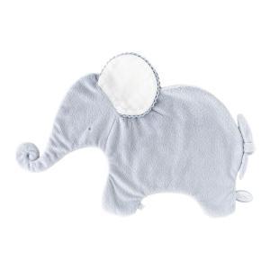 Dimpel - 884026 - Oscar doudou éléphant classique 42 cm - bleu et blanc (356910)