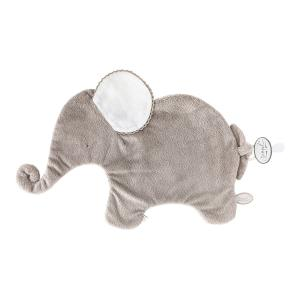 Dimpel - 884039 - Oscar Doudou éléphant attache tétine  - 42 x 25 cm - BEIGE-blanc (356912)