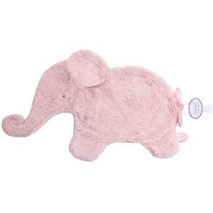 Dimpel - 884104 - Oscar Doudou éléphant attache tétine  - 42 x 25 cm - ROSE (356916)