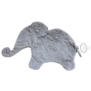 Dimpel - 884117 - Oscar Doudou éléphant attache tétine  - 42 x 25 cm - GRIS (356918)