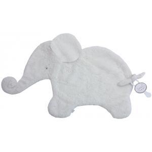 Dimpel - 884130 - Oscar Doudou éléphant attache tétine  - 42 x 25 cm - BLANC (356920)