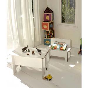 Green Lullaby - 60118 - Bureau enfant en carton Blanc (357236)