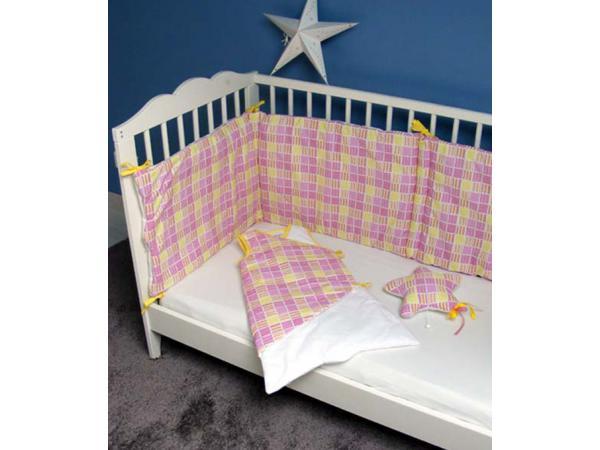 cmm oekotex tour de lit certifiee oekotex pixel jaune. Black Bedroom Furniture Sets. Home Design Ideas