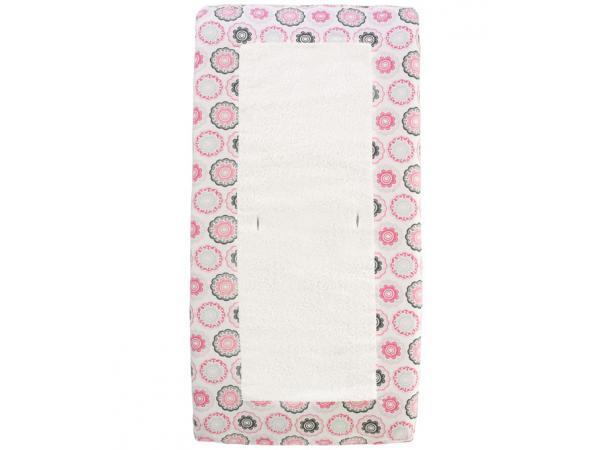 Dwellstudio housse de matelas a langer rose et blanche for Housse matelas a langer rose