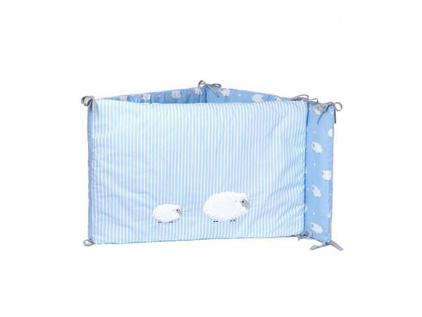 laura ashley tour de lit mouton bleu clair. Black Bedroom Furniture Sets. Home Design Ideas