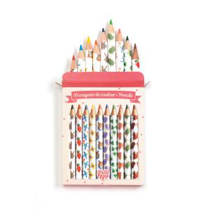 Djeco - DD03725 - Crayons / Marqueurs / Stylos - Crayons de couleurs Aiko (360296)
