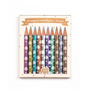Djeco - DD03730 - Crayons / Marqueurs / Stylos - Crayons métalliques Chic (360298)
