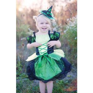 Great Pretenders - 37395 - Robe de sorcière avec chapeau, vert - 4/6 (361918)