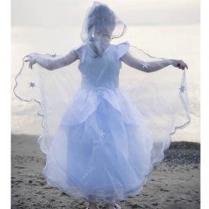 Great Pretenders - 51083 - Cape - Reine des Neiges, bleu, taille EU 92-104 - Ages 2-4 years (362036)
