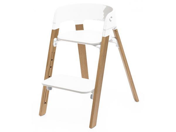 stokke pieds de chaise haute steps h tre noyer. Black Bedroom Furniture Sets. Home Design Ideas
