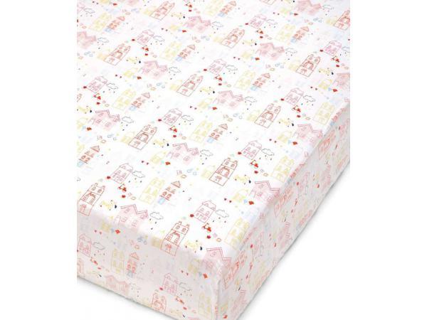 mamas and papas drap housse bebe rose pixie finch. Black Bedroom Furniture Sets. Home Design Ideas