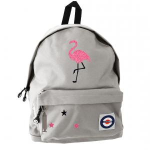Lacocarde - GM-GRIS-FLAMANTROSE - Sac à dos grand modele Flamant rose (363814)