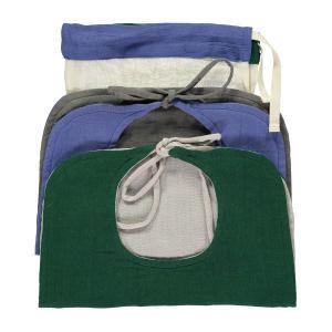Camomile London - BIB2 RBF - Set de 2 Bavoirs réversibles bleu royal/gris foncé et vert sapin/gris clair (364242)