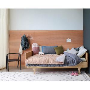 Camomile London - C23-2PBA - Couverture Single / Double ouatinée bicolore brodée main pêche/ gris clair - 140 x 200 cm (364264)