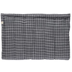 Camomile London - C12-2IKP - Couverture matelassée brodée main imprimée carreaux gris - 140 x 200 cm (364328)