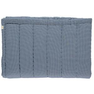 Camomile London - C12-1MCB - Couverture matelassée brodée main imprimée petits carreaux bleus - 75 x 120 cm (364396)