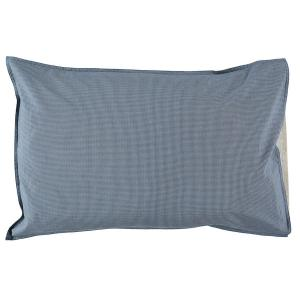 Camomile London - C06-1MCB - Taie d'oreiller imprimée petits carreaux bleus - 60 x 40 cm (364414)