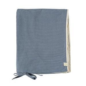 Camomile London - C02-2MCB - Housse de couette imprimée petits carreaux bleus - 140 x 200 cm (364416)