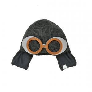 Lullaby Road - Space-G-2-4-ans - Bonnet gris foncé avec lunette ronde aviateur amovible - 2/4 ans (364428)
