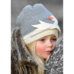 Lullaby Road - Beanie-1-2-ans - Bonnet gris avec Cygne amovible - 1/2 ans (364454)