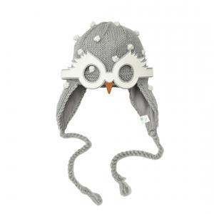 Lullaby Road - Snowy-6-12-mois - Bonnet gris avec lunette amovible Chouette blanche - 6/12 mois (364470)