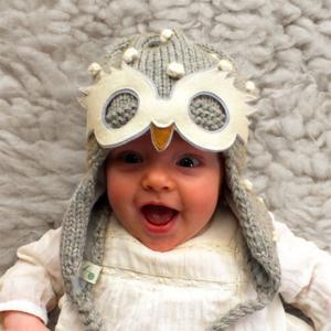 Lullaby Road - Snowy-1-2-ans - Bonnet gris avec lunette amovible Chouette blanche - 1/2 ans (364472)