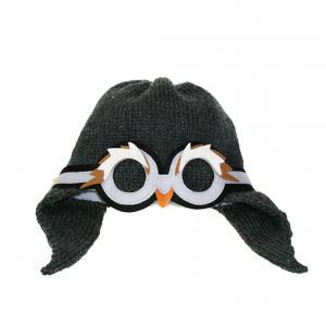 Lullaby Road - Penguin-1-2-ans - Bonnet fille gris foncé avec lunette amovible Pingouin - 1/2 ans (364480)