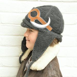 Lullaby Road - Mam-6-12-mois-charbon - Bonnet gris foncé avec lunette amovible Mammouth - 6/12 mois (364488)