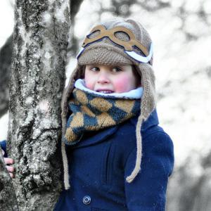 Lullaby Road - Mam-6-12-mois-caramel - Bonnet caramel avec lunette amovible Mammouth - 6/12 mois (364492)