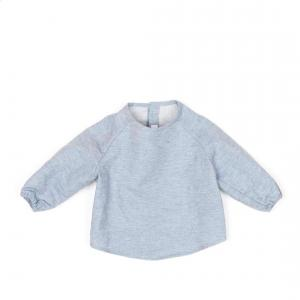 Message in the bottle - KYO_LDET0606 - Sweat Kyo en coton gris chiné - 6 mois (364636)